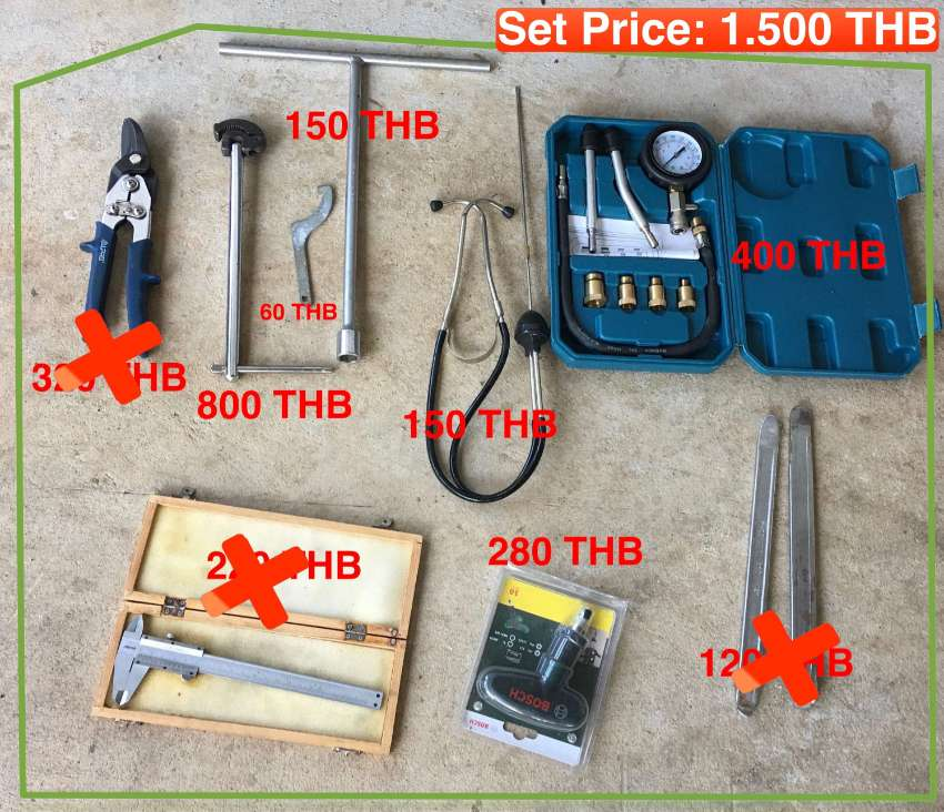 Motorcycle Workshop Tool Sets for Sale  - start from 60 THB