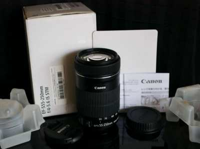 Canon Zoom Lens EF-S 55-250mm f/4-5.6 IS STM in Box