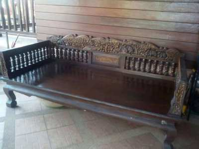 Teak wood bench-old