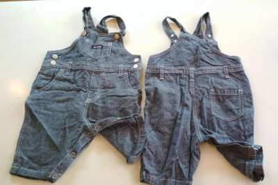 2 Jeans Overalls  for 1 year baby