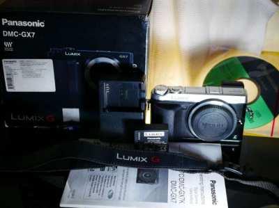 Panasonic Lumix DMC-GX7 Mirrorless Camera Body in Box