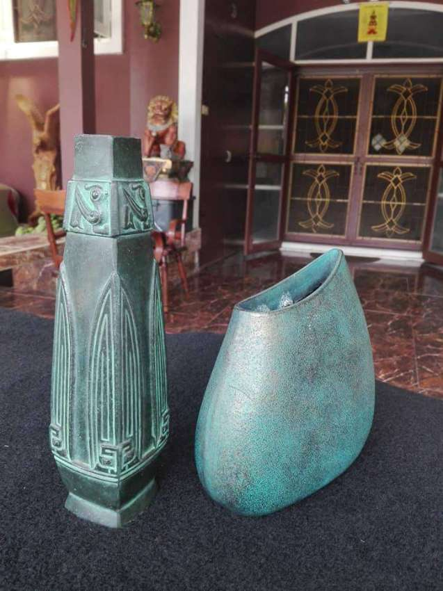 SOLD!!! Collectible Rare Vintage Vases Copper Casting Beast