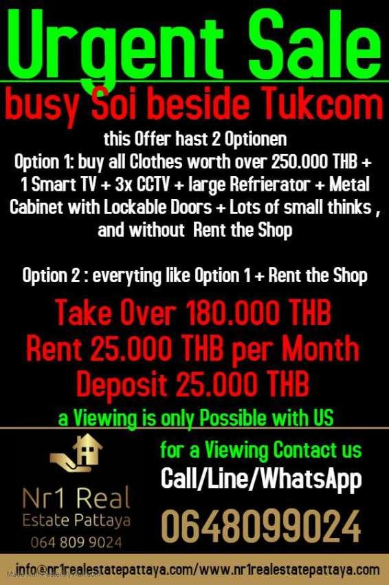 Cloth Shop Pattaya Close to Tukcom