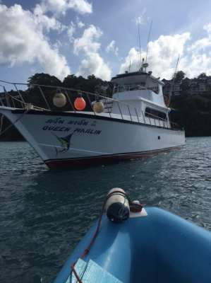 Charter boat for sale includes fishing equipment