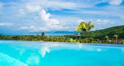 For Sale Villa Bophut Koh Samui with great sea view