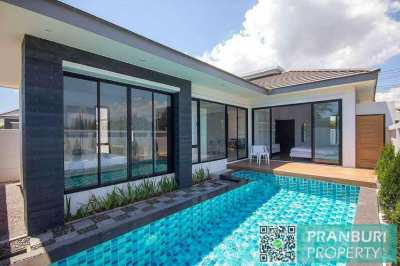 NEW 2 bed pool villa SUPER location under 4m ThB