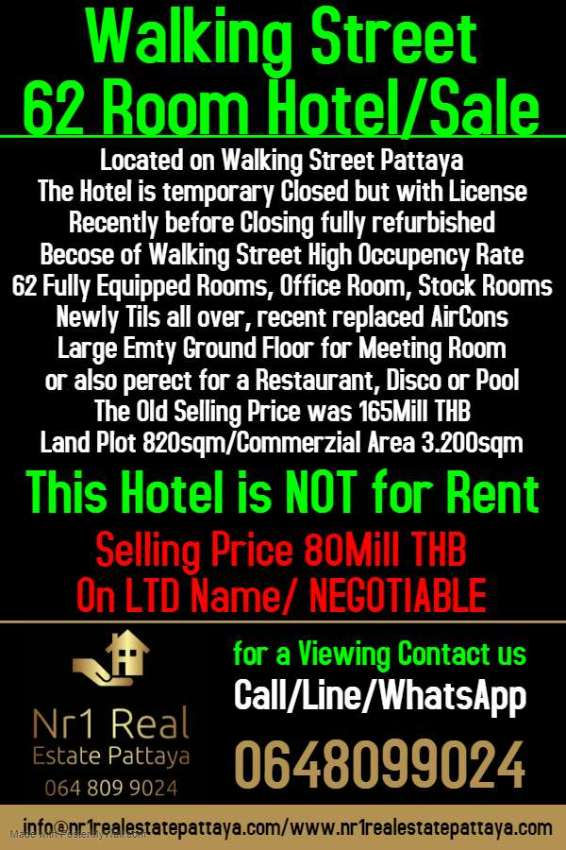 62 Room Pattaya Walking Street