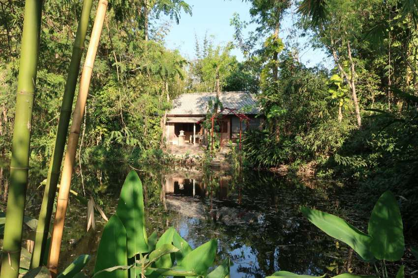 Chiang Mai: Little lakeside bungalow in natural garden 10 mi to city