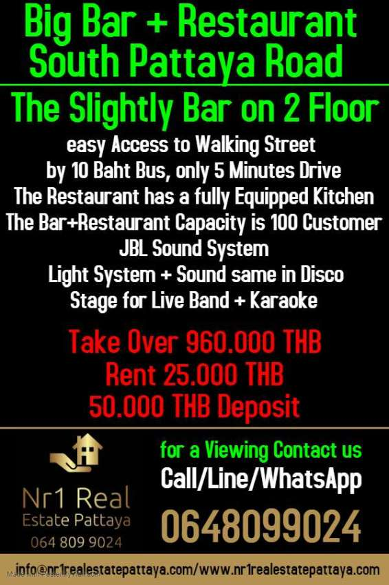 Big Bar + Restaurant South Pattaya Road