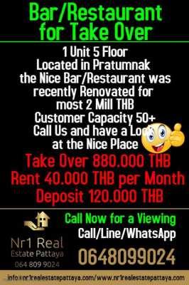 Bar/Restaurant Pratumnak