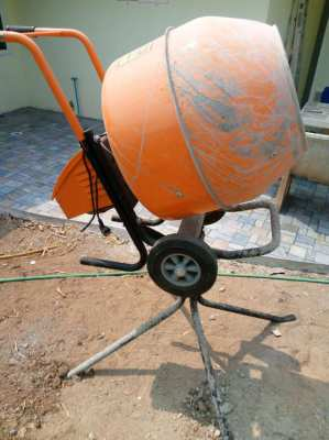 Cement Mixer complete with stand as new, very little use
