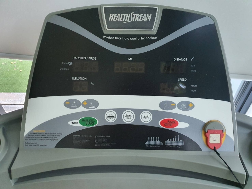 Sell second hand treadmill Healthstream T806 durable good condition.