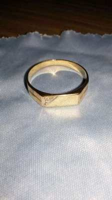 SOLID GOLD RING WITH DIAMOND