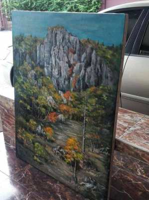 SOLD!!! Mountain view oil on canvas
