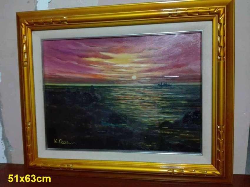SOLD!!! Sunrise on sea oil on canvas