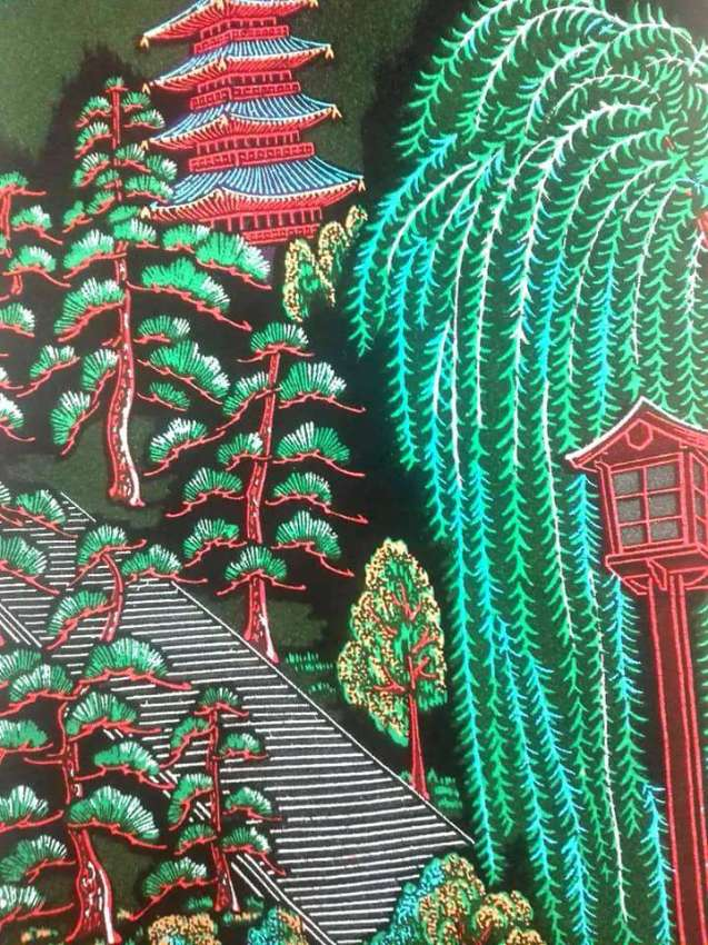 Nature view on fabric