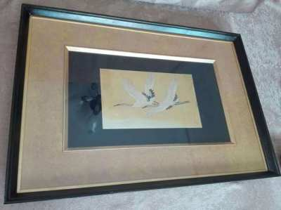 Iron carved birds picture