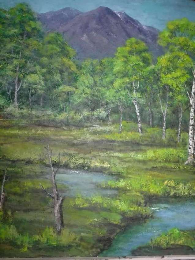 SOLD!!! Birches in the swamps oil paints