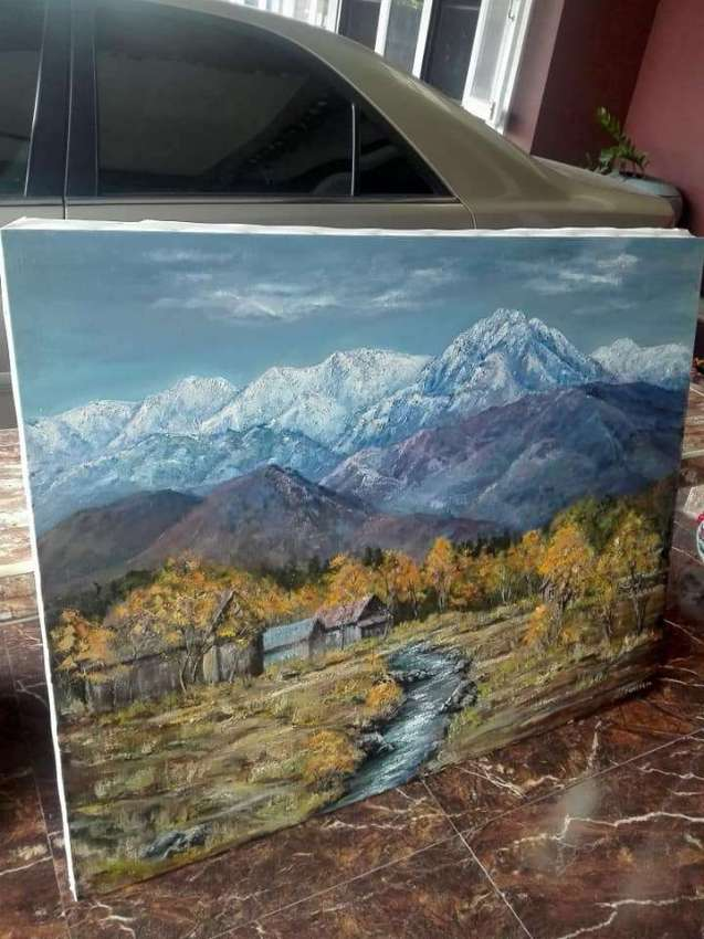 SOLD!!! Homes near river oil painted