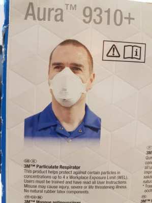 3M Aura  TM 9310+ Face Mask/ Blocks 99.9% Viruses 350฿/P-1