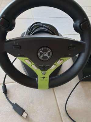 Racing wheel plug and play model xb360-08