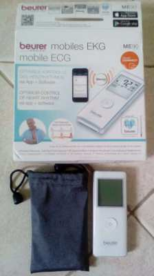 Beurer Medical ME90 mobile ECG controlling and recording heart rhythm
