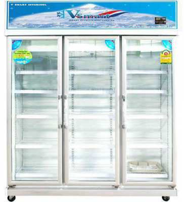 Shop, restaurant refrigerator - Beverage Cooler - 3 Doors