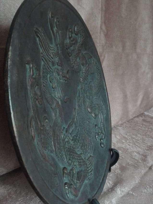 SOLD!!! Vintage brass dragon plate