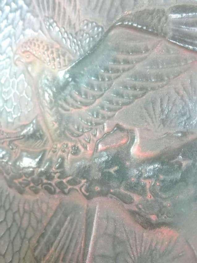 SOLD!!! Vintage brass eagle plate