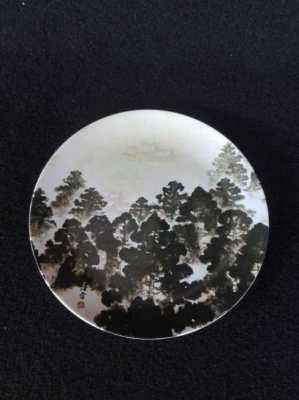 Ceramic forest plate