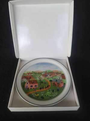 Ceramic collectable four seasons plate