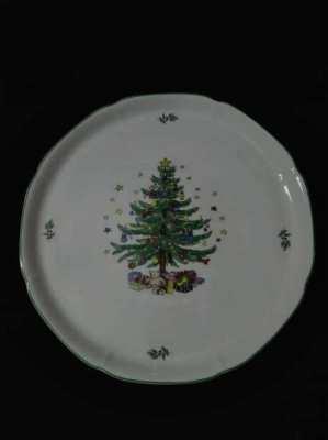 Ceramic xmas tree plate