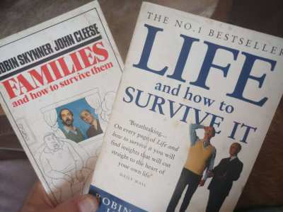 John Cleese has all the answers!  Two intriguing self-help paperbacks