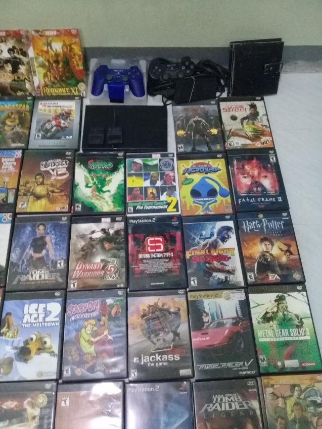 PS2 มือ2 พร้อมเล่น แผ่นเกมส์ 40 แผ่น