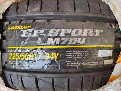 2 New Tyre:  225/50 R17 Dunlop SP Sport LM704, 2017 year