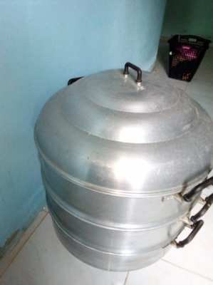 Stainless Steel Steamer No. 56, Biggest, Good Condition