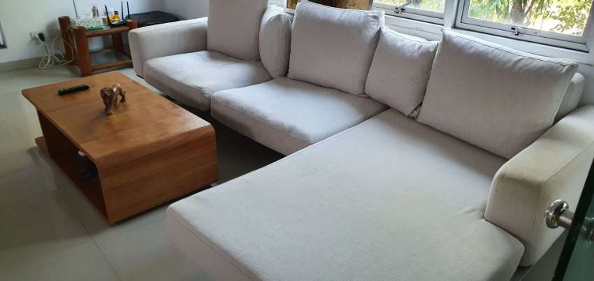 LUXURY SOFA 8/10 PLACES COTTON CUSHIONS .. STAINLESS STEEL