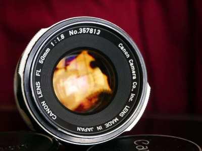 CANON LENS (FD mount) FL 50mm f1.8