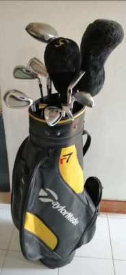 2 sets of Golf Clubs with Flight Bag.