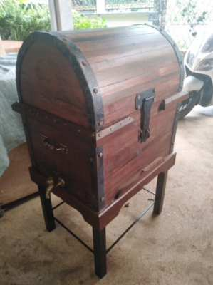 Hand made Pirates chest cooler