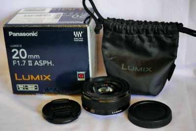 Panasonic Lumix G 20mm F/1.7 II Lens in Box