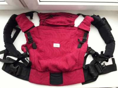 Ergonomic Baby Carrier Sling DiSling Adapted Raspberry