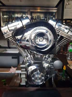 Custom Harley Davidson 4 Beer Tap with double coolers