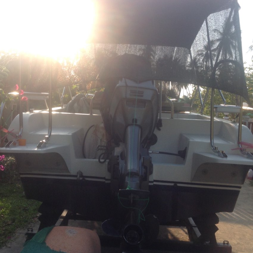A brand new pleasure boat for sale by owner not broker. Day cruiser.