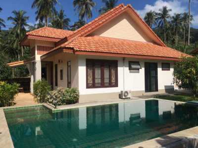 For Sale 3 bedrooms pool villa with large garden in Lamai Koh Samui