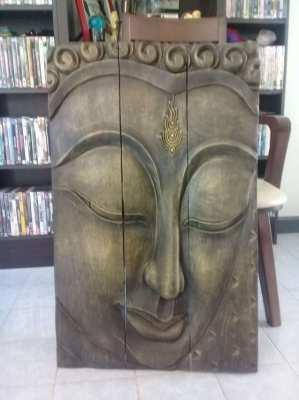 Beautiful solid wood Buda image