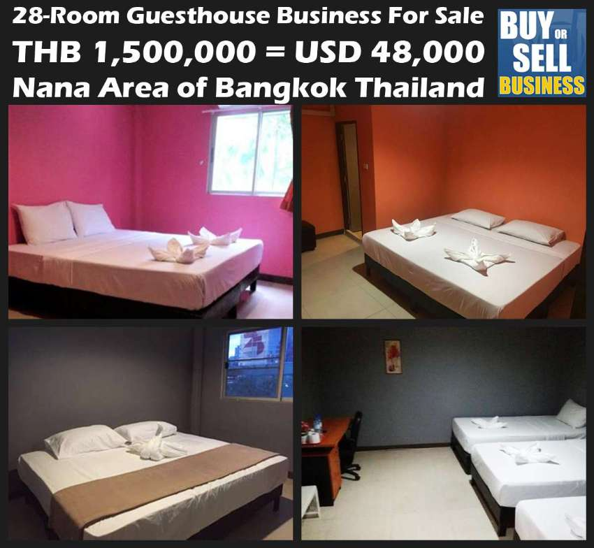 28-Rooms Nana Area Guesthouse for Rent