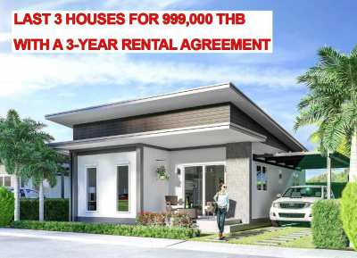 house for sale 999,000 THB with 3-year rental contract