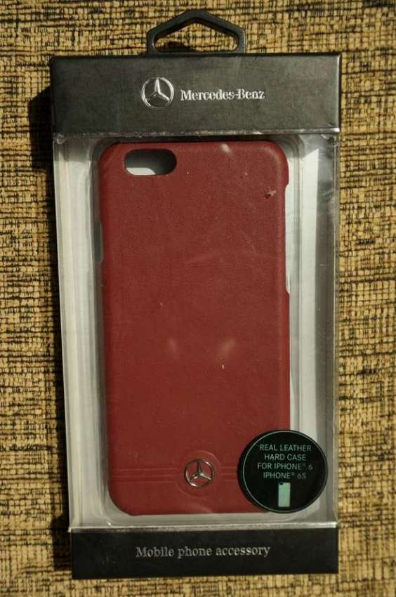Mercedes-Benz Front Grill Red Leather Hard Case for iPhone 6/6s