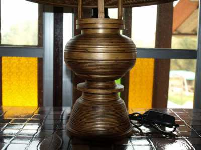 Hand Made Bamboo Table Lamp Brand New Never Used.